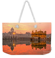 Weekender Tote Bag featuring the photograph  Golden Temple by Luciano Mortula