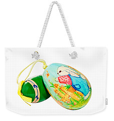 Hand Painted Easter Eggs Weekender Tote Bag by Susan Leggett