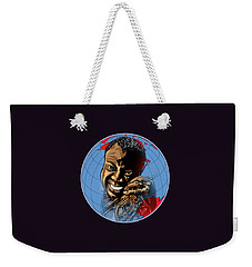 Weekender Tote Bag featuring the painting  Louis. by Andrzej Szczerski