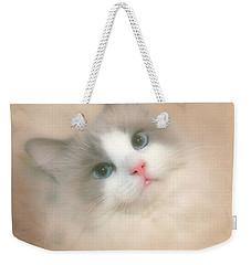 Misty Blue Weekender Tote Bag