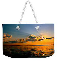 Weekender Tote Bag featuring the photograph  Perfect Ending To A Perfect Day by Lisa Wooten