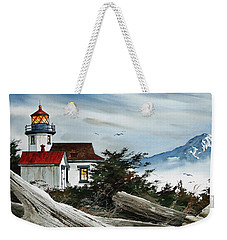 Point Robinson Lighthouse And Mt. Rainier Weekender Tote Bag