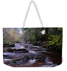 Weekender Tote Bag featuring the photograph  Reelig Glen by Gavin Macrae