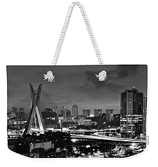 Sao Paulo Iconic Skyline - Cable-stayed Bridge - Ponte Estaiada Weekender Tote Bag