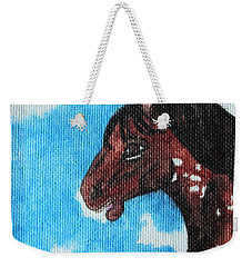 Spirit Of The Appaloosa Weekender Tote Bag by Amy Gallagher