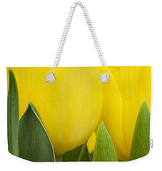 Spring Yellow Tulips Weekender Tote Bag
