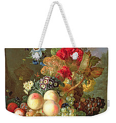Still Life With Auriculus  Weekender Tote Bag by Gerrit Van Leeuwen