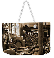 The Motorcycle Shop Weekender Tote Bag