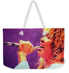 Tina Turner Weekender Tote Bag by Sergey Lukashin