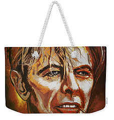 Weekender Tote Bag featuring the painting  Tribute To David by Andrzej Szczerski