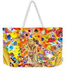 Vegas Horse Flower Power Weekender Tote Bag