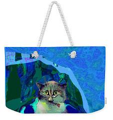 007 The Under Covers Cat Weekender Tote Bag