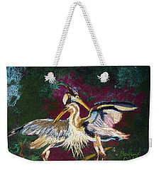 021916 Blue Heron's Dance Weekender Tote Bag