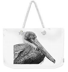 047 - Sinbad The Pelican Weekender Tote Bag by Abbey Noelle