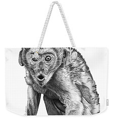 057 Madhula The Monkey Weekender Tote Bag by Abbey Noelle