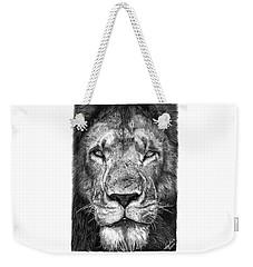 059 - Lorien The Lion Weekender Tote Bag by Abbey Noelle