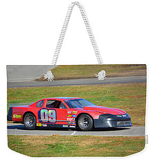 09 On Pit Lane Weekender Tote Bag by Mike Martin