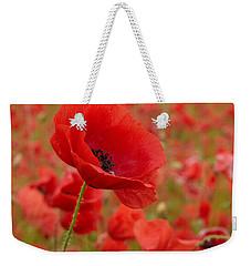 Red Poppies 3 Weekender Tote Bag by Jouko Lehto