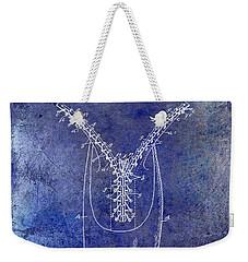 1896 Shoe Patent Blue Weekender Tote Bag