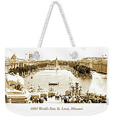 1904 World's Fair, Grand Basin View From Festival Hall Weekender Tote Bag