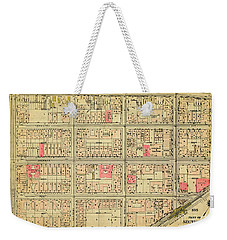 1927 Inwood Map  Weekender Tote Bag