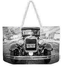 1929 Ford Model A Tudor Police Sedan Bw Weekender Tote Bag
