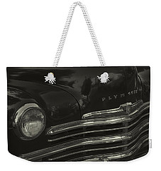 1949 Plymouth Deluxe  Weekender Tote Bag by Cathy Anderson