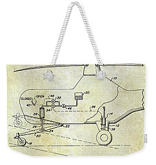 1953 Helicopter Patent Weekender Tote Bag