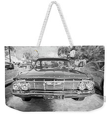 1961 Chevrolet Impala Ss Bw Weekender Tote Bag by Rich Franco