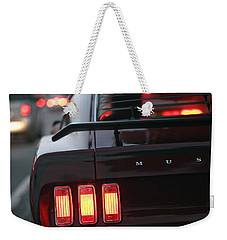 Weekender Tote Bag featuring the photograph 1969 Ford Mustang Mach 1 by Gordon Dean II