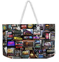 2016 Broadway Fall Collage Weekender Tote Bag