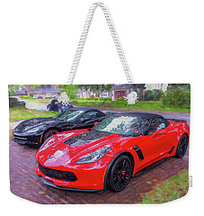2017 Chevrolet Corvette Zo6 Painted  Weekender Tote Bag