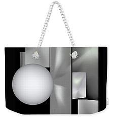 Weekender Tote Bag featuring the digital art 1-2017 by John Krakora
