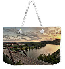 360 Bridge Sunset Weekender Tote Bag