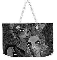Weekender Tote Bag featuring the digital art 451 - To Lean On by Irmgard Schoendorf Welch