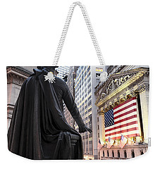 A Bronze Statue Of George Washington Weekender Tote Bag