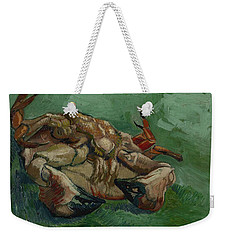 Weekender Tote Bag featuring the painting A Crab On Its Back Paris, August-september 1887 Vincent Van Gogh 1853 - 1890 by Artistic Panda