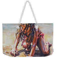 Beach Day Weekender Tote Bag by Tracy Male
