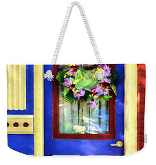 Weekender Tote Bag featuring the photograph A Door Of Many Colors # 2 by Mel Steinhauer