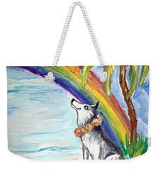 A Husky In Paradise Weekender Tote Bag