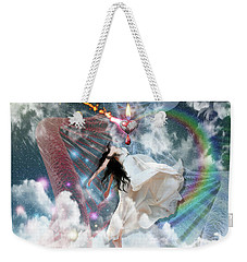 Weekender Tote Bag featuring the digital art A New Heart by Dolores Develde