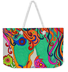 A Rainbow Called Romeo Weekender Tote Bag by Alison Caltrider