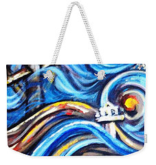 Weekender Tote Bag featuring the painting A Ray Of Hope 4 by Harsh Malik