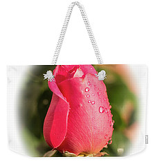 Weekender Tote Bag featuring the photograph A Rose For Love by Ed Clark