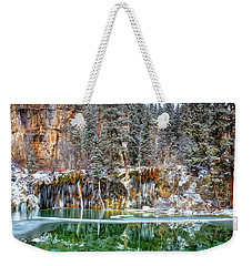 Olena Art Serene Chill Hanging Lake Photograph The Gem Of Glenwood Canyon Colorado Weekender Tote Bag