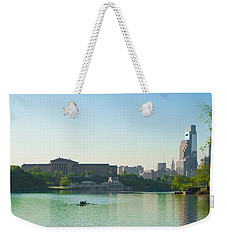 Weekender Tote Bag featuring the photograph A Spring Morning In Philadelphia by Bill Cannon
