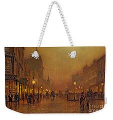 A Street At Night Weekender Tote Bag