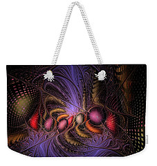 Weekender Tote Bag featuring the digital art A Student Of Time by NirvanaBlues