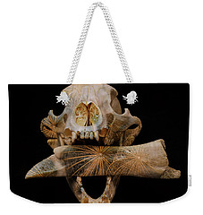 Weekender Tote Bag featuring the photograph A Taste For Bones by Ronda Broatch