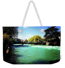 Weekender Tote Bag featuring the photograph Aare River by Mimulux patricia no No